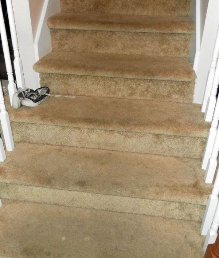 My Dingy, Drab Staircase BEFORE