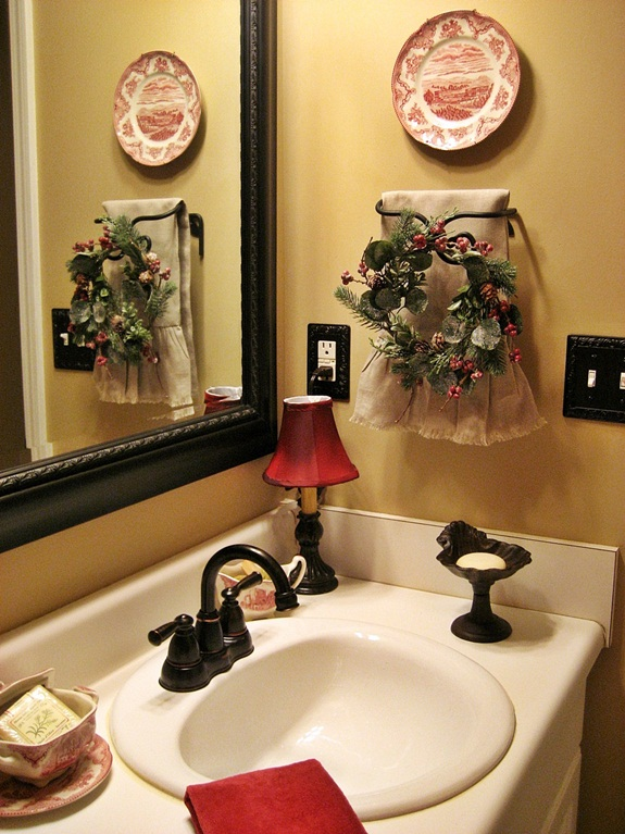 My French Country Guest Bath Bathroom Ideas Home Decor A Mirror And Fixtures