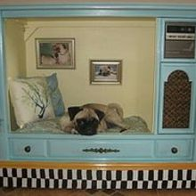 homespot hq 2013 rewind, crafts, diy, how to, mason jars, Old TV upcycled into a dog bed