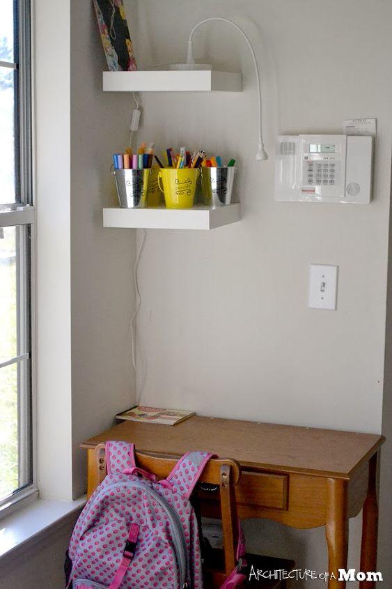 organizing a child s desk, organizing, painted furniture