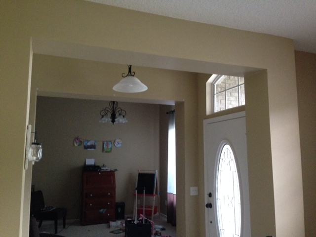 q casing ideas, foyer, home decor, wall decor, from dining room to playroom doorway