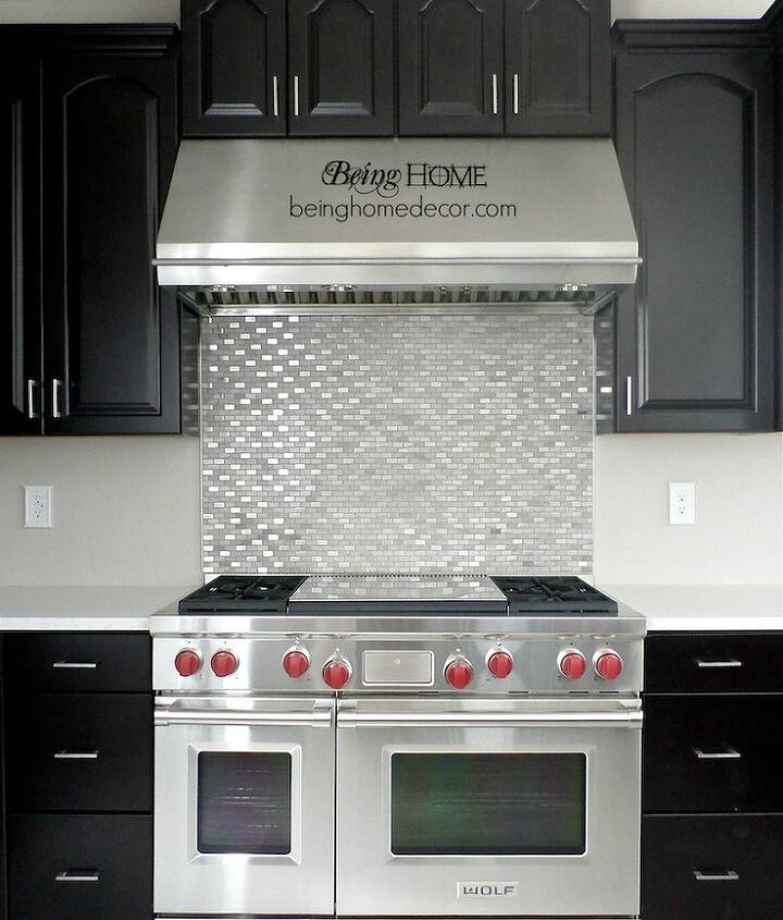 DIY - Stove backsplash.