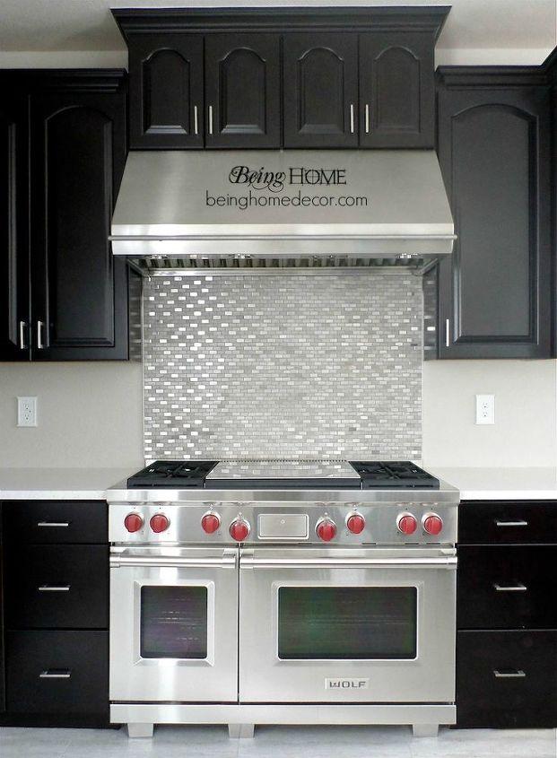 super simple diy tile backsplash, home decor, kitchen backsplash, kitchen design, tiling, wall decor, DIY Stove backsplash