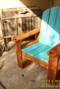 cedar fence picket adirondack, painted furniture, patio, repurposing upcycling, woodworking projects, 25 Modern Adirondack made from fence pickets