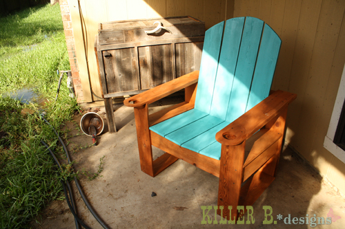 $25 Modern Adirondack made from fence pickets