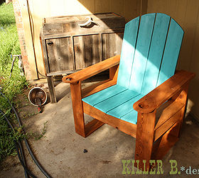 cedar fence picket adirondack painted furniture patio repurposing upcycling woodworking projects