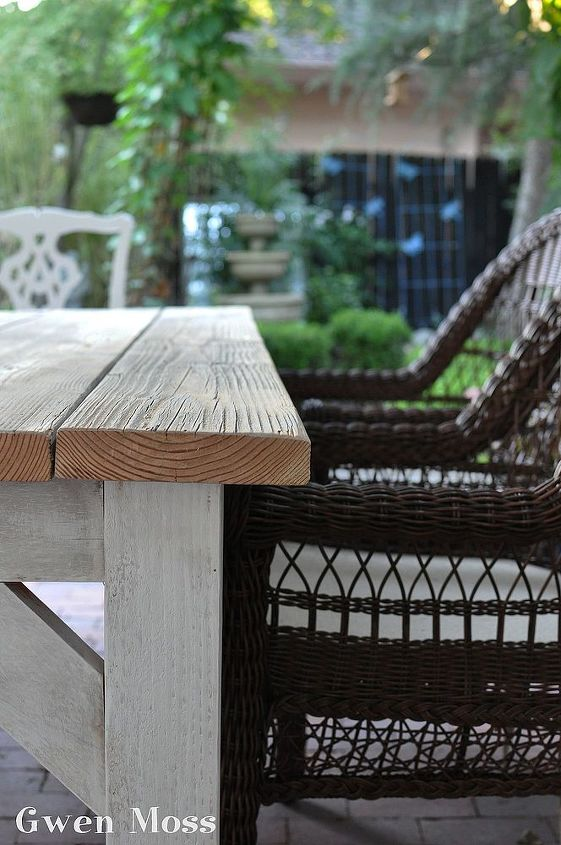 I found wicker chairs to go with my wood table