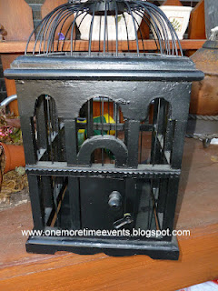 bird cage makeover and new vignette with thrift store finds, chalk paint, painting, repurposing upcycling, Before