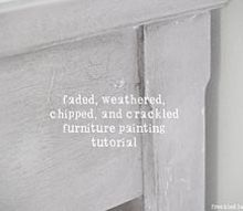 how to create a timeworn weathered and crackle finish on furniture, chalk paint, painted furniture, Close up of crackle finish