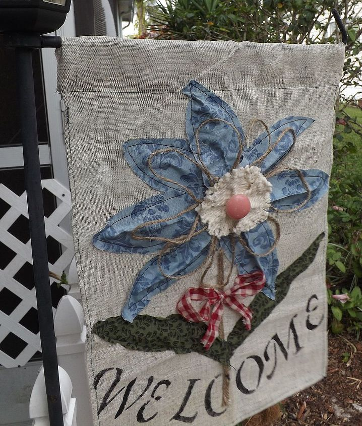 an easy outdoor flag to make, crafts, outdoor living, A fun craft to attempt seeing that your imagination can bring out the unexpected results