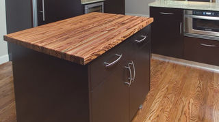 q we all know granite countertops are definitely in but what do y all think of, countertops, home decor, kitchen design, Tigerwood oiled