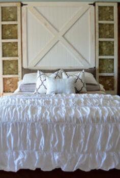 diy barn door headboard, bedroom ideas, doors, home decor, repurposing upcycling, DIY Barn Door Headboard Tutorial