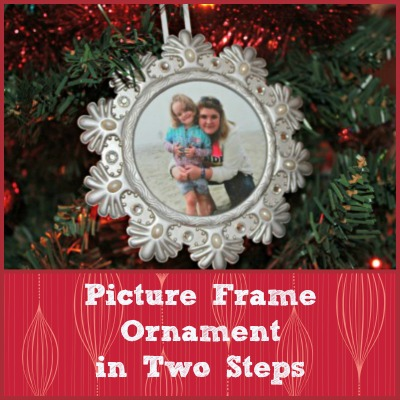 picture frame ornaments in 2 steps and free bonus holiday printable, crafts, seasonal holiday decor, Steps are to large to load please follow url to get steps and printable