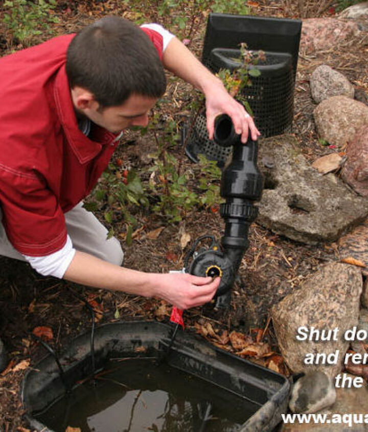 Remove the pump from the skimmer and store it inside.