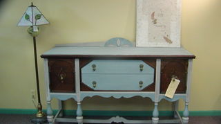 q what do you suggest for this antique sideboard, painted furniture, repurposing upcycling, 1940 s Jacobean sideboard transformed with chalk paint and Howard s Restore A Finish