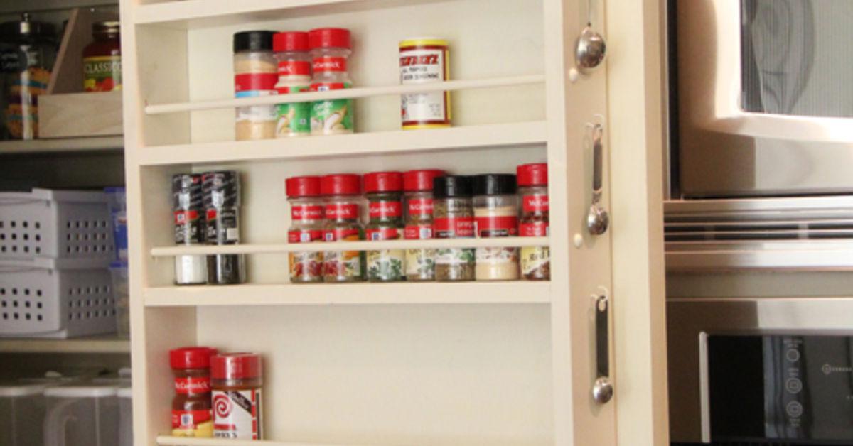 Diy Pantry Door Spice Rack Hometalk