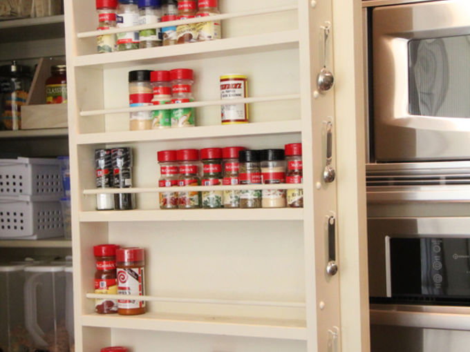 diy pantry door spice rack, cleaning tips, closet, storage ideas, Pantry Door Spice Rack