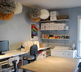 A Diy Sewing Room, Cleaning Tips, Craft Rooms, Organizing, Shelving Ideas,