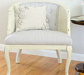 Reupholstered Tufted Cane Chair Tutorial Part 1, Chalk Paint, Diy, How To,