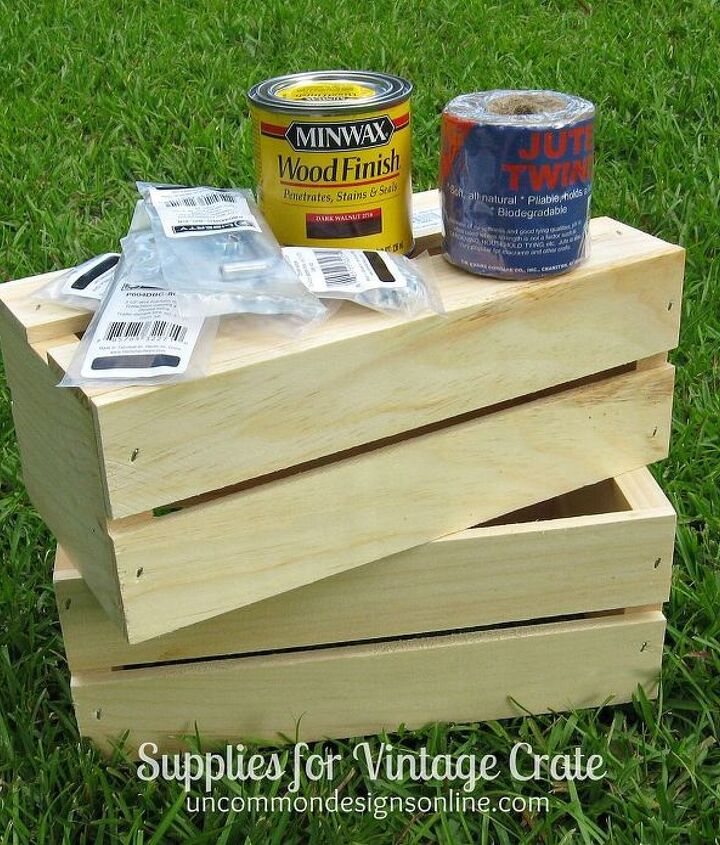 diy vintage crate, crafts, woodworking projects