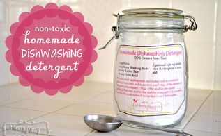 homemade dishwashing detergent green and natural, cleaning tips, go green, Homemade dishwashing detergent recipe with free printable label