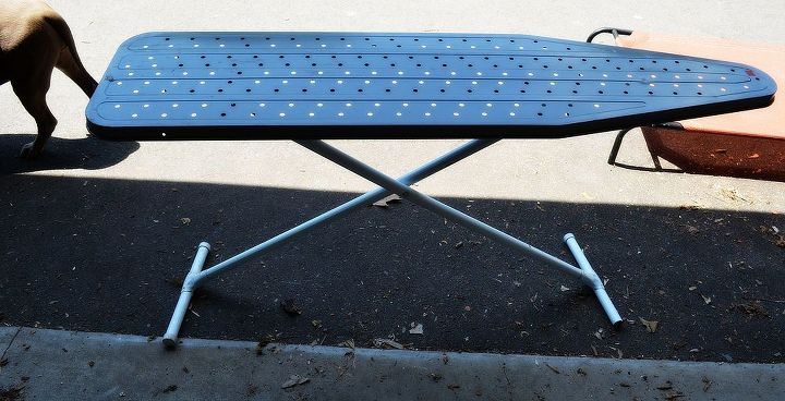 ironing board storage peg board from my 2012 vault, repurposing upcycling, storage ideas, Old metal Ironing board I don t iron