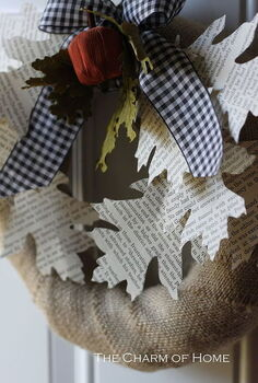 book page leaf wreath, crafts, wreaths