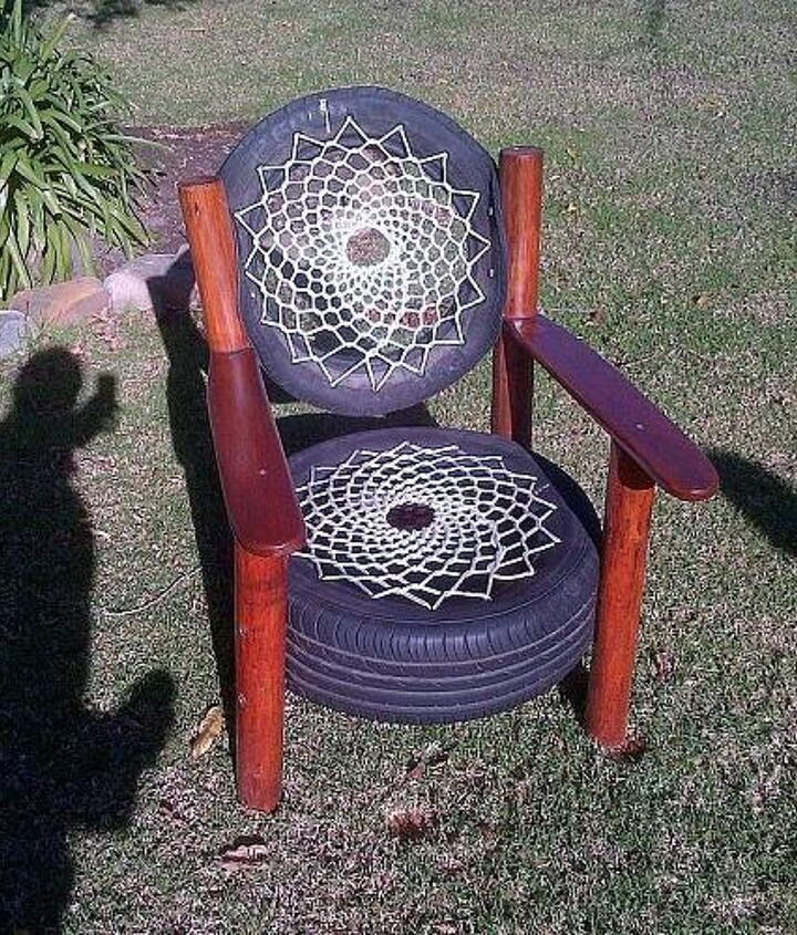 Recycled tyre chair - Rocky Road Backpackers - South Africa