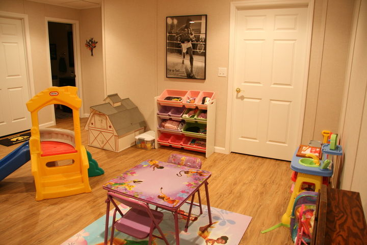 Brad's daughter now has her own play area.