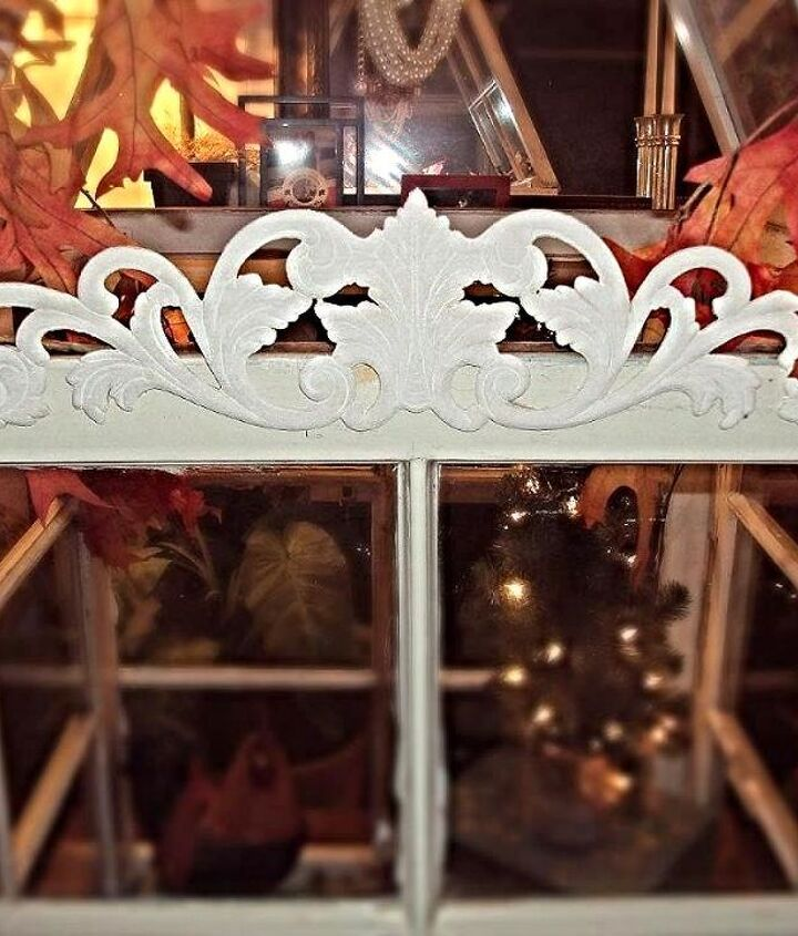 You can also add embelishments like this wood applique I purchased at Home Depot