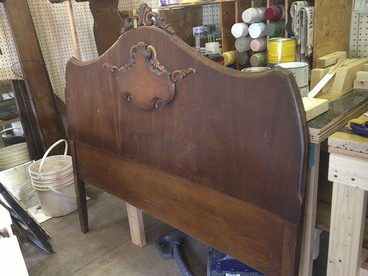This was the original headboard.  There were some cosmetic issues.