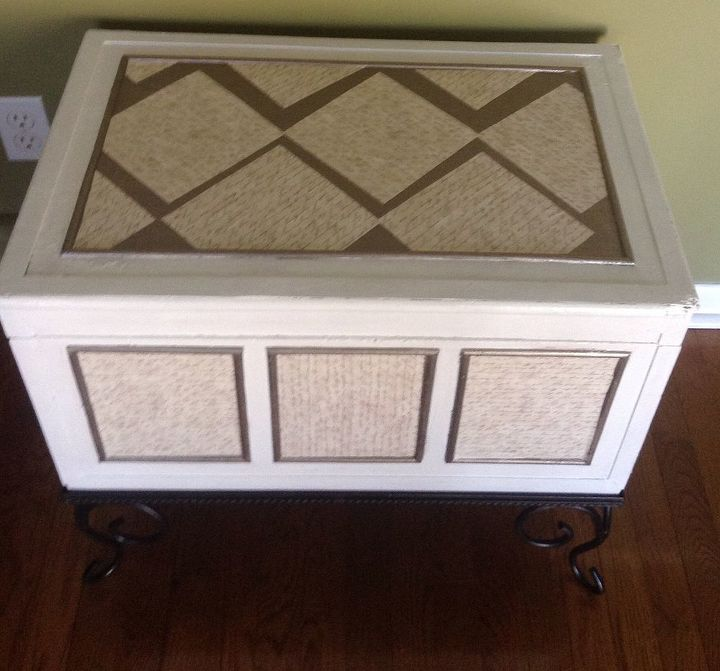 from old and tired to bright and fresh chest trunk re do, chalk paint, painted furniture