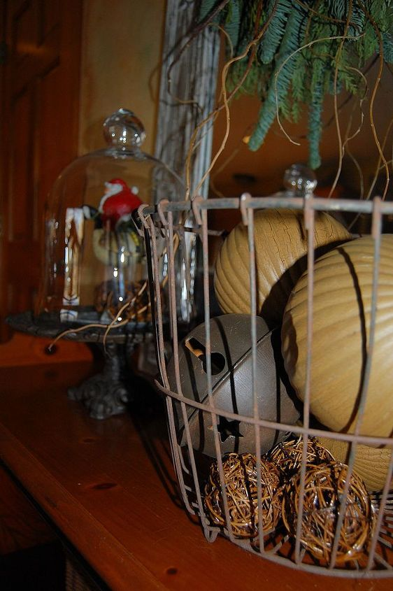 Old antique wire gathering basket full of bells!