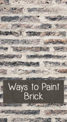 ways to paint brick, concrete masonry, painting