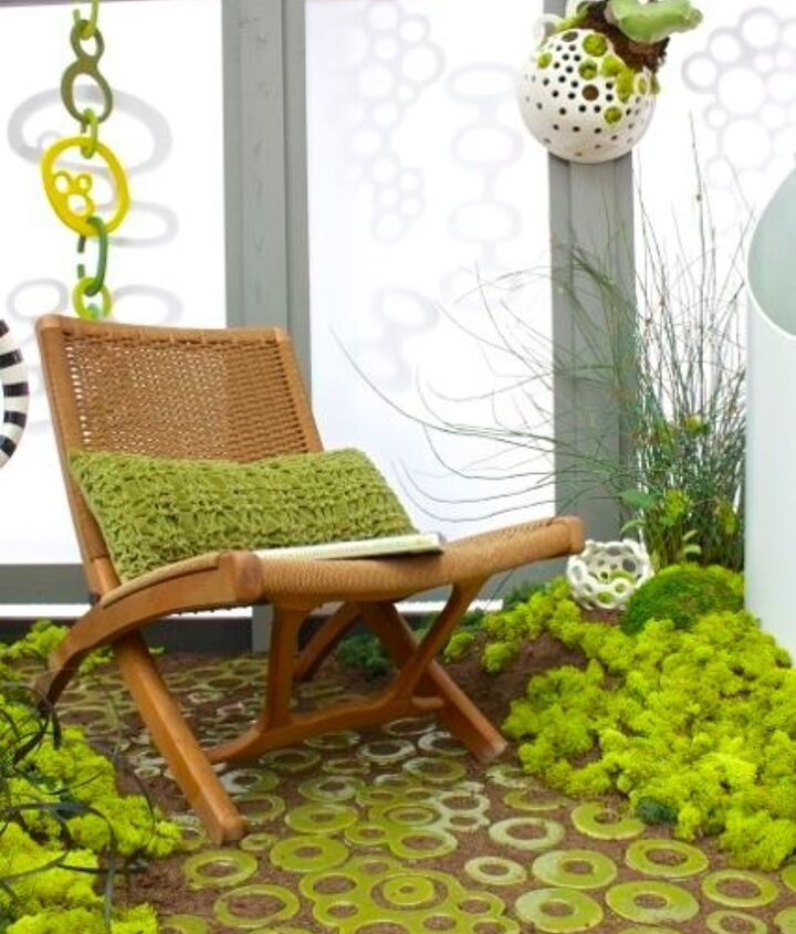 Moss is super hot this year, you'll see it brought indoors for home decor