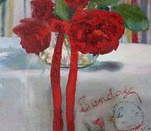 petite original oil paintings, home decor, painting, On Sunday Smell the Roses 10 x 8 Original Oil Painting pamelasweetfineart com