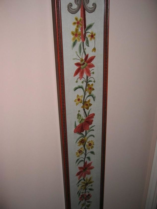 Needlepoint wall-hanging. Sorry not all of it is shown!