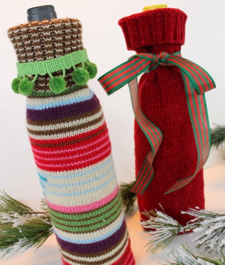 Sweater Wine Bottle Gift Bags