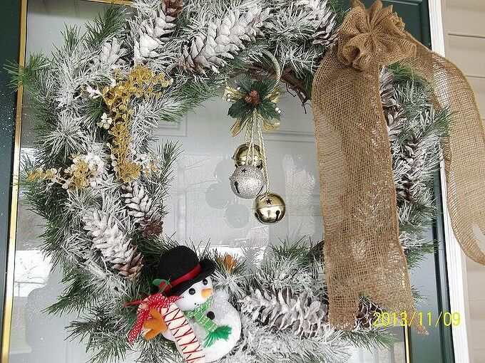 wreaths i made, christmas decorations, crafts, seasonal holiday decor, wreaths, Another pix