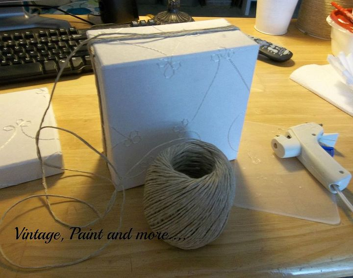 twine wrapped decorative box, crafts