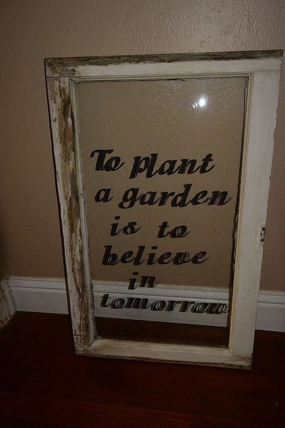 The start of a window project. Still have to paint some vines to the top and a flower on the bottom.