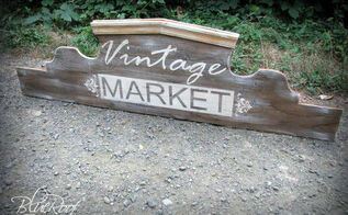 build your own sign out of plywood and trim scraps, woodworking projects, DIY vintage market sign