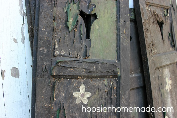 The shutters before they were scraped.