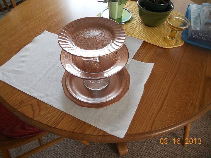 painting my dishes for tiers, crafts, painting