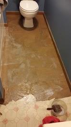 paper bag flooring, bathroom, diy renovations projects, flooring