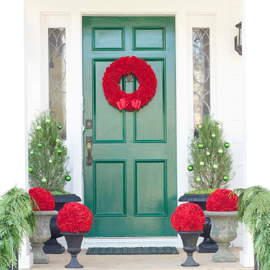unique amp budget friendly holiday wreaths using simple crafts, crafts, doors, electrical, seasonal holiday decor, wreaths, DIY Carnation Wreath