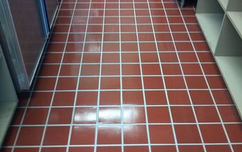 Commercial Kitchen Floor Made to Look New for Less Then 50 Dollars