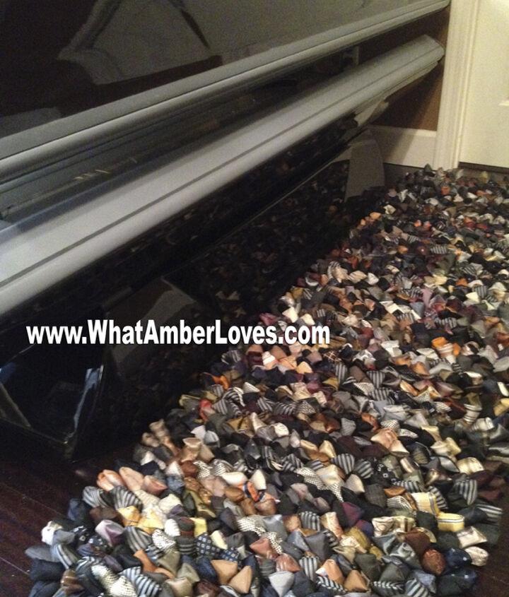 repurposed necktie rug, flooring, repurposing upcycling