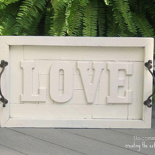 love wall plaque, crafts, home decor, repurposing upcycling