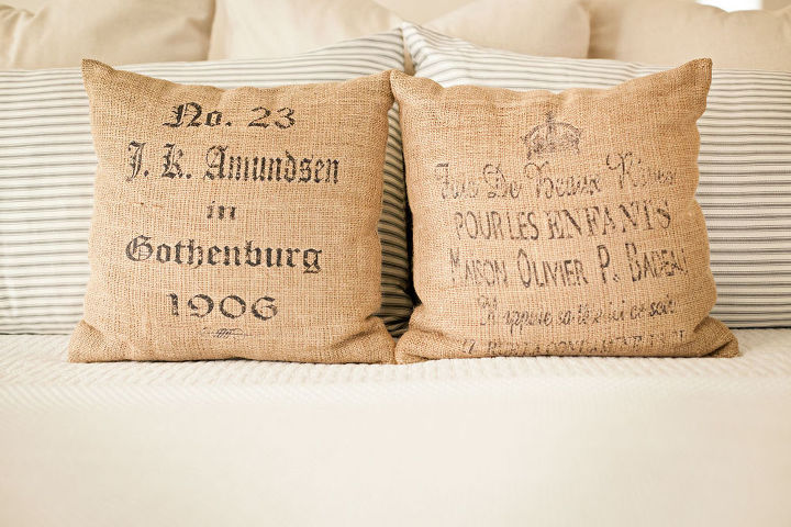 Burlap pillows...